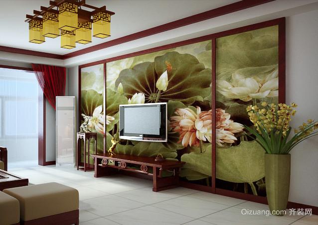 中式装修电视背景墙装修效果图
