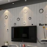 电视墙置物架装修整体图