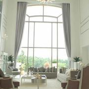 别墅客厅窗帘窗帘图
