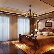 中式风格窗帘装修造型图