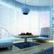 地中海风格窗帘装修整体图