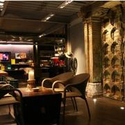 地中海风格咖啡厅装修整体图