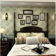 地中海风格卧室壁纸装修图