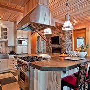美式风格厨房装修飘窗图
