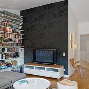 单身公寓装修背景墙图