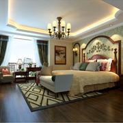 东南亚风格榻榻米床装修效果图