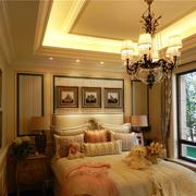 欧式风格卧室壁纸装修色调搭配