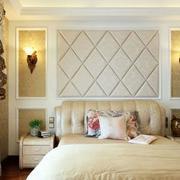 卧室软包背景墙装修整体图