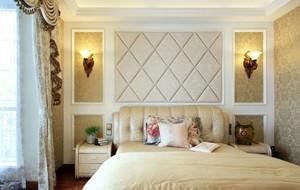10平米田园风格卧室软包背景墙装修效果图