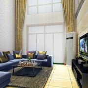 客厅窗帘装修造型图