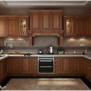 美式田园风格厨房装修造型图