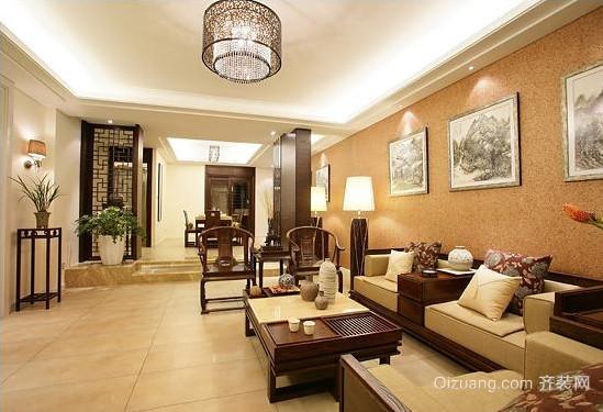 古色古香的中式风格客厅装修效果图