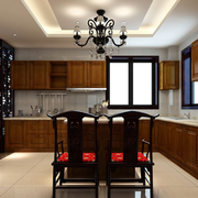 中式风格厨房装修橱柜图