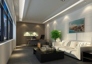 2015现代简约办公室休闲区装修效果图