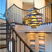 实木楼梯装修扶手图