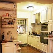 美式田园风格厨房装修灯光设计
