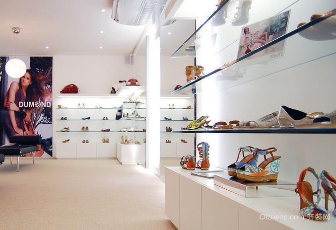 时尚前端的精品鞋店装修效果图