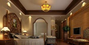 大户型神秘的东南亚风格卧室背景墙装修图片鉴赏