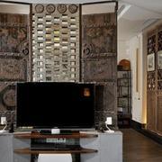 中式家装电视背景墙背景墙图