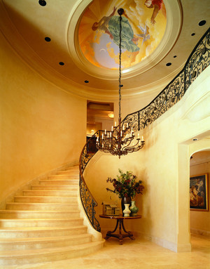 室内铁艺楼梯设计图片鉴赏