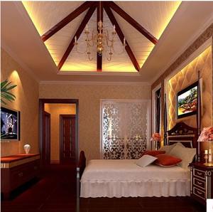 美式风格卧室壁纸装修效果图