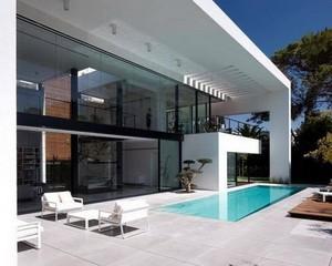 奢华别墅落地窗户装修设计效果图