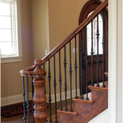 美式风格楼梯设计扶手图