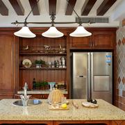 开放式厨房装修背景墙图