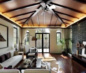别墅客厅吊顶装修效果图