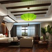 中式风格卧室壁纸装修吊灯图