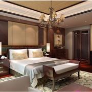 东南亚风格卧室壁纸装修整体图