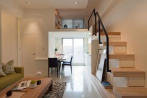 90平米现代简约风格复式阁楼装修效果图