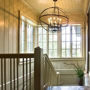 美式风格楼梯设计吊顶图