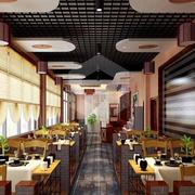 饭店装修造型图