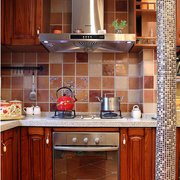 美式乡村风格厨房装修橱柜图
