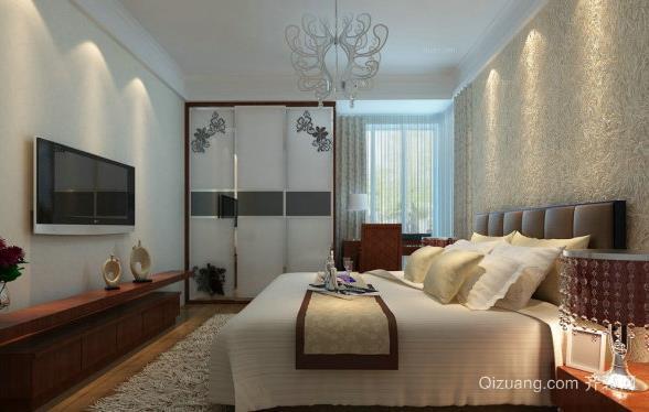 2015新中式家装卧室硅藻泥装修效果图