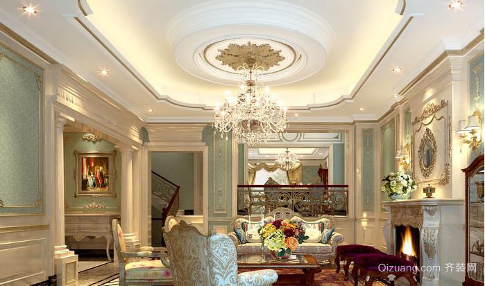 别具一格的法式客厅吊顶装修效果图