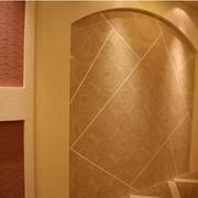 客厅硅藻泥背景墙装修整体图