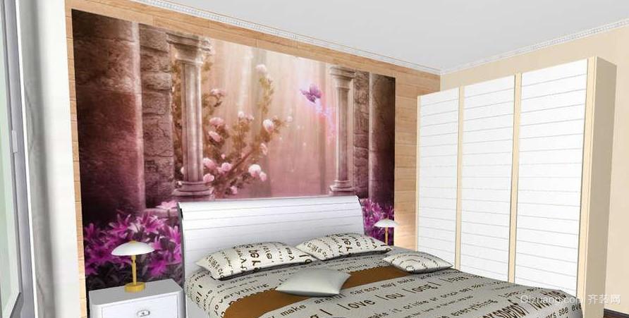 中式田园风格卧室装修效果图