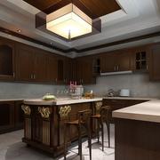 中式风格厨房装修吊灯图