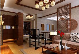 简约中式 饱含诗情画意的客厅吊顶装修效果图