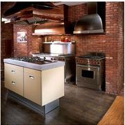 美式乡村风格厨房装修造型图