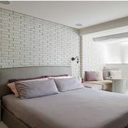 北欧风格榻榻米床装修背景墙图