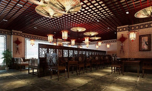 2015中式火锅店设计装修效果图