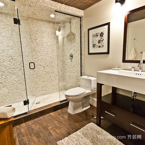 118平米三居室美式风格卫生间设计装修效果图欣赏