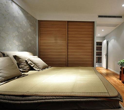 2015 新中式 家装卧室 硅藻泥 装修效果图