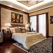 东南亚风格卧室壁纸装修实例
