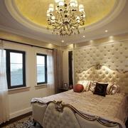 欧式风格卧室壁纸装修飘窗图