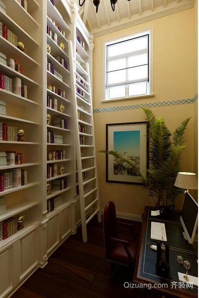 温馨静谧的地中海书柜装修效果图