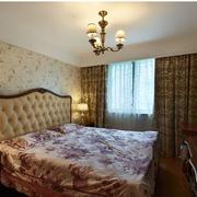 美式乡村风格卧室壁纸装修效果图